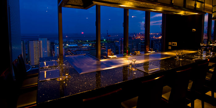 神戸ベイシェラトン&タワーズの鉄板焼きレストラン(画像引用元:楽天トラベル)