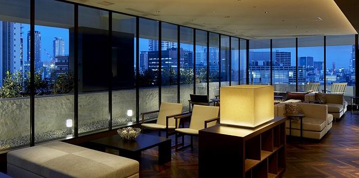 三井ガーデンホテル大阪プレミアムのラウンジ(画像引用元:楽天トラベル)