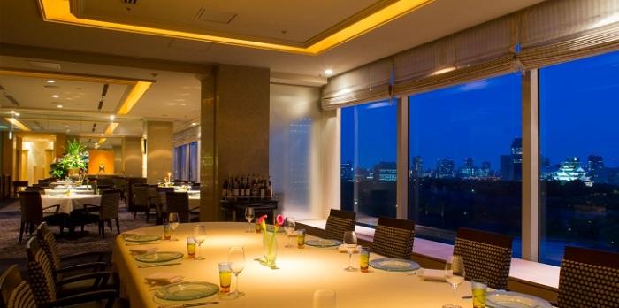ホテルニューオータニ大阪のフレンチレストラン(画像引用元:楽天トラベル)