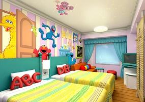 USJオフィシャルホテルのキャラクタールーム(画像引用元:楽天トラベル)