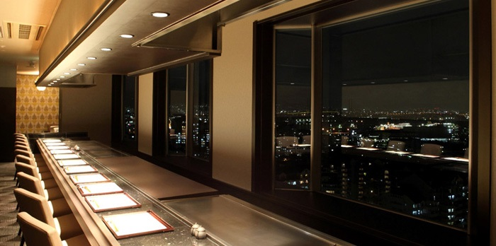 ホテルプラザ神戸の鉄板焼きレストラン(画像引用元:楽天トラベル)