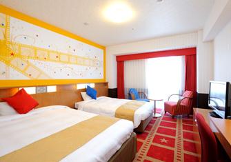 ホテル京阪ユニバーサル・シティの館内のザムービールーム(画像引用元:ホテル京阪ユニバーサル・シティ)